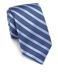 Ike Behar - Blue Striped Silk Tie for Men - Lyst