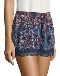 Joie Blue Lindee Constellation-printed Silk Shorts