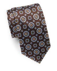 Ike Behar - Brown Woven Silk Tie for Men - Lyst