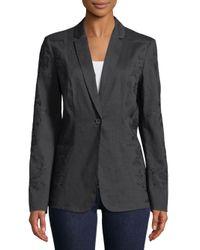 Elie Tahari Blue Bonnie Jacket