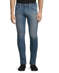 AG Jeans Blue Classic Faded Slim Jeans for men