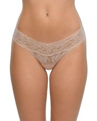 Hanky Panky - Natural Low Rise Lace Thong - Lyst