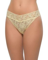 Hanky Panky - Natural Original Rise Lace Thong - Lyst