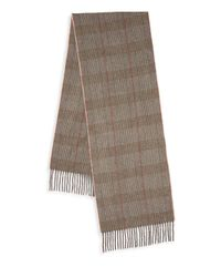 Saks Fifth Avenue Natural Boxed Plaid Cashmere Scarf