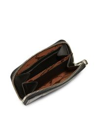 Longchamp - Black Le Pliage Cuir Leather Zip Around Wallet - Lyst