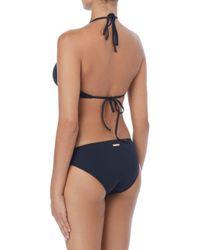Vince Camuto Black Mesh Hi-neck Bikini Top