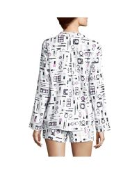 Carole Hochman Gray Striped Pajamas