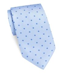 Brioni - Blue Textured Bird's-eye Silk Tie for Men - Lyst