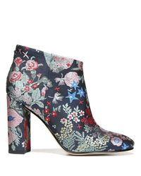 Sam Edelman Gray Cambell Embroidered Booties