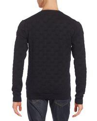 Versace - Blue V-neck Slim-fit Sweater for Men - Lyst