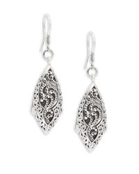 8d543bc8b Lyst - Lois Hill Signature Sterling Silver Dangle Earrings in Metallic
