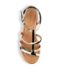 Corso Como - Brown Codi Strappy Wedge Sandals - Lyst