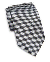 Burma Bibas - Metallic Basketweave Silk Tie for Men - Lyst