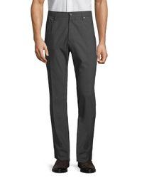 Incotex Gray Moss Wool Pants for men
