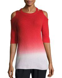 Zoe Jordan Multicolor Aristotle Ombre Cold-shoulder Sweater