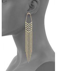 Noir Jewelry - Metallic Fringed Chevron Earrings - Lyst