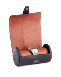 Royce Multicolor Genuine Leather Double Watch Travel Roll for men