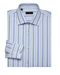 Saks Fifth Avenue Blue Collection Multi-stripe Dress Shirt for men