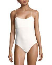 Tibi - White Stretch Kate Bodysuit - Lyst