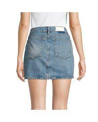Re/done Blue Women's Denim Mini Skirt - Indigo - Size 27 (4)