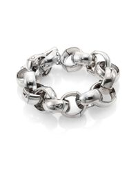 John Hardy - Metallic Bamboo Sterling Silver Large Link Bracelet - Lyst