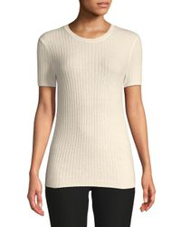 AG Jeans White Rib Knit Sweater