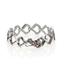 John Hardy - Metallic Naga Black Sapphire, 18k Yellow Gold & Sterling Silver Dragon Link Bracelet - Lyst