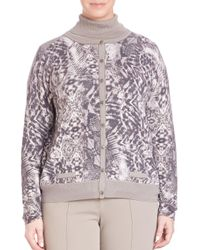 Basler - Multicolor Plus Graphic-print Cardigan - Lyst