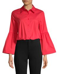 Laundry by Shelli Segal - Red Bell-sleeve Shirt - Lyst