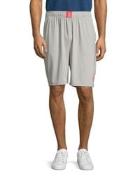 Psycho Bunny - Gray Solid Sport Shorts for Men - Lyst