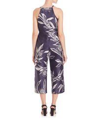 Suno - Black Floral Jacquard Jumpsuit - Lyst