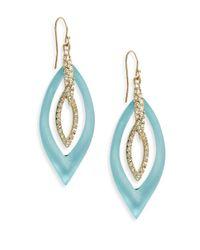 Alexis Bittar | Metallic Lucite Swarovski Crystal Marquis Orbital Drop Earrings | Lyst