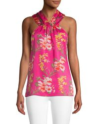Ava & Aiden Pink Textured Floral Top