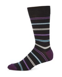 Saks Fifth Avenue - Black Collection Striped Socks - Lyst