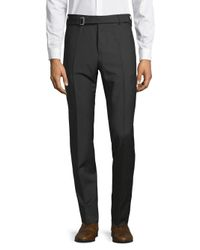 Valentino Black Classic Belted Pants for men
