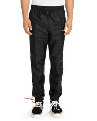 Off-White c/o Virgil Abloh Black Side-stripe Track Pants for men