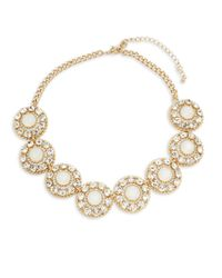 Saks Fifth Avenue - Metallic Cubic Zirconia Faceted Statement Necklace - Lyst