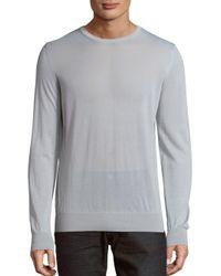 Giorgio Armani - Gray Crewneck Cashmere Sweater for Men - Lyst