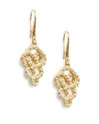 John Hardy - Metallic Classic Chain 18k Yellow Gold Braided Drop Earrings - Lyst