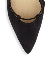 Schutz - Black Billie Tasseled Lace-up Flats - Lyst