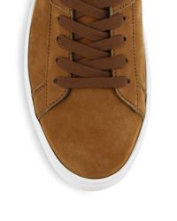 Tod's - Brown New Cassetta Denim Leather Sneakers for Men - Lyst