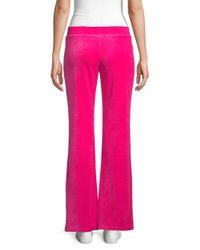 Juicy Couture Pink Logo Velour Sweatpants