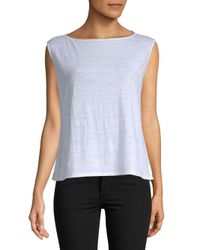 Eileen Fisher - White Organic Linen Boxy Shell Top - Lyst