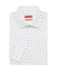 HUGO White Kenno Firefly Print Button-down for men