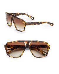 Dita Eyewear Brown Carbine Tortoise Aviator Sunglasses
