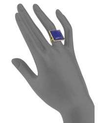 Ippolita - Metallic 18k Gold & Lapis Gelato Ring - Lyst