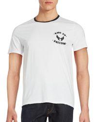 The Kooples White Short Sleeve Cotton T-shirt for men