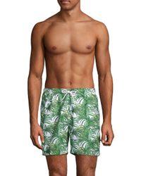 Trunks Surf & Swim Green Jungle Leaves Sano Swim Shorts for men
