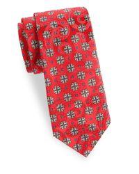 Eton of Sweden - Red Floral Silk Tie for Men - Lyst