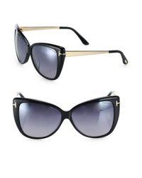 Tom Ford - Black Reveka 59mm Mirrored Butterfly Sunglasses - Lyst